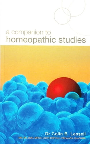 A Companion to Homeopathic Studies - Colin Lessell
