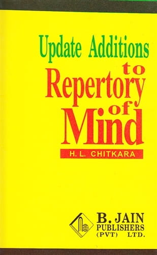 Update Additions to Repertory of Mind - H L Chitkara