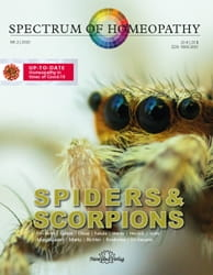 Spiders and Scorpions - Spectrum of Homeopathy 2020/2