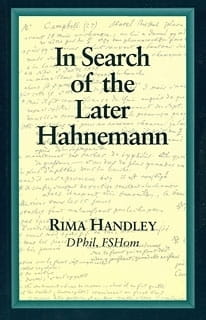 In Search of the Later Hahnemann - Rima Handley