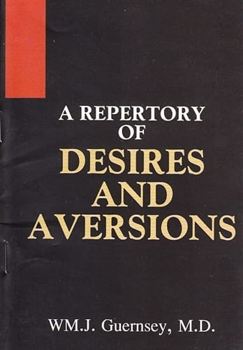 A Repertory of Desires and Aversions - W.M.J Guernsey