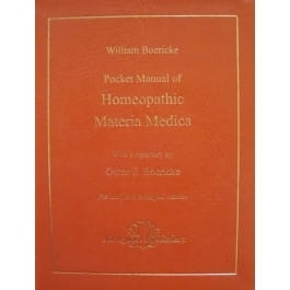 Pocket Manual of Homeopathic Materia Medica and Repertory - William Boericke and Oscar Boericke